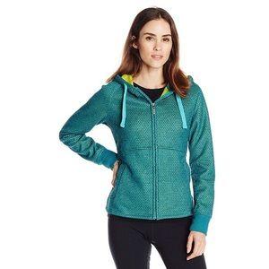 Prana Akita Green Fleece Lined Hooded Pullover Sml